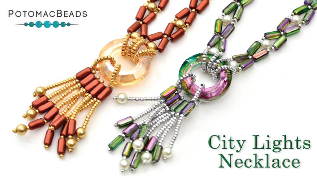 How to Bead Jewelry / Beading Tutorials & Jewel Making Videos / Bead Weaving Tutorials & Necklace Tutorial / City Lights Necklace Tutorial