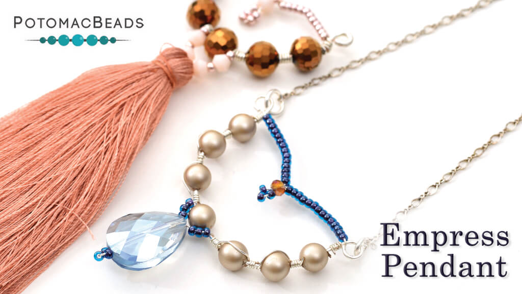 How to Bead Jewelry / Beading Tutorials & Jewel Making Videos / Wire Working Projects / Empress Pendant Tutorial