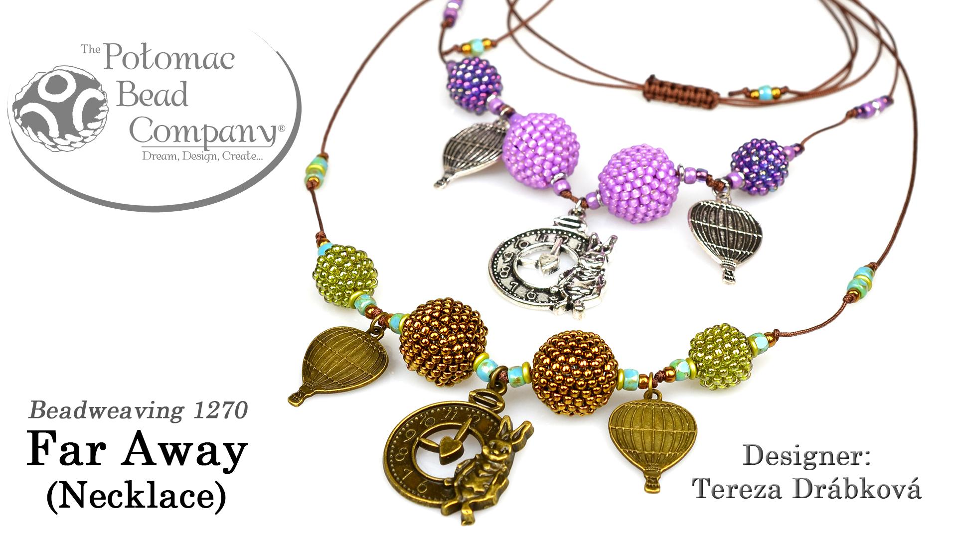 How to Bead Jewelry / Beading Tutorials & Jewel Making Videos / Bead Weaving Tutorials & Necklace Tutorial / Far Away Necklace Tutorial