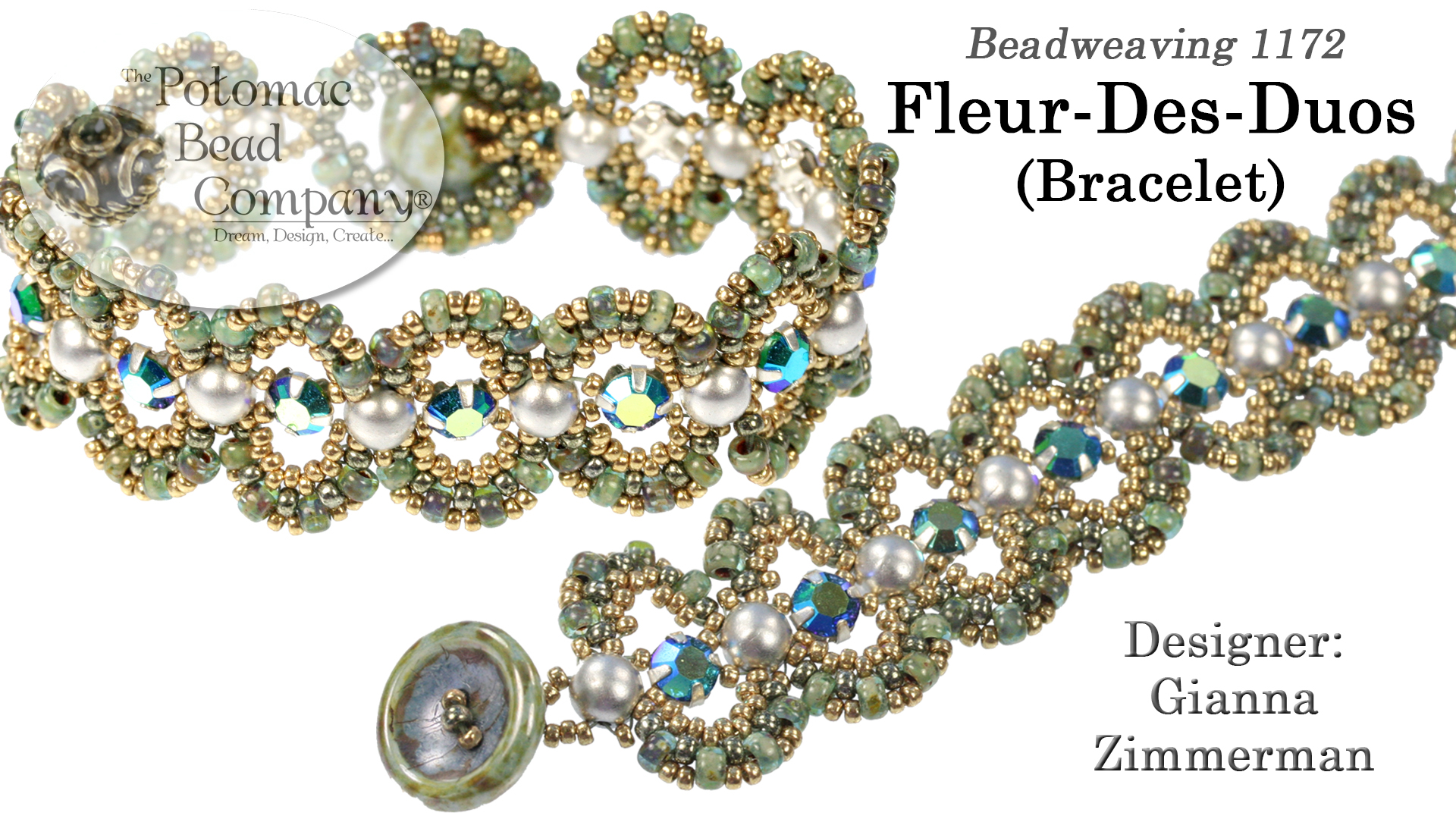 How to Bead Jewelry / Videos Sorted by Beads / SuperDuo & MiniDuo Videos / Fleur Des Duos Bracelet Tutorial