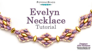 How to Bead Jewelry / Videos Sorted by Beads / CzechMates Bead Videos / Evelyn Necklace Tutorial