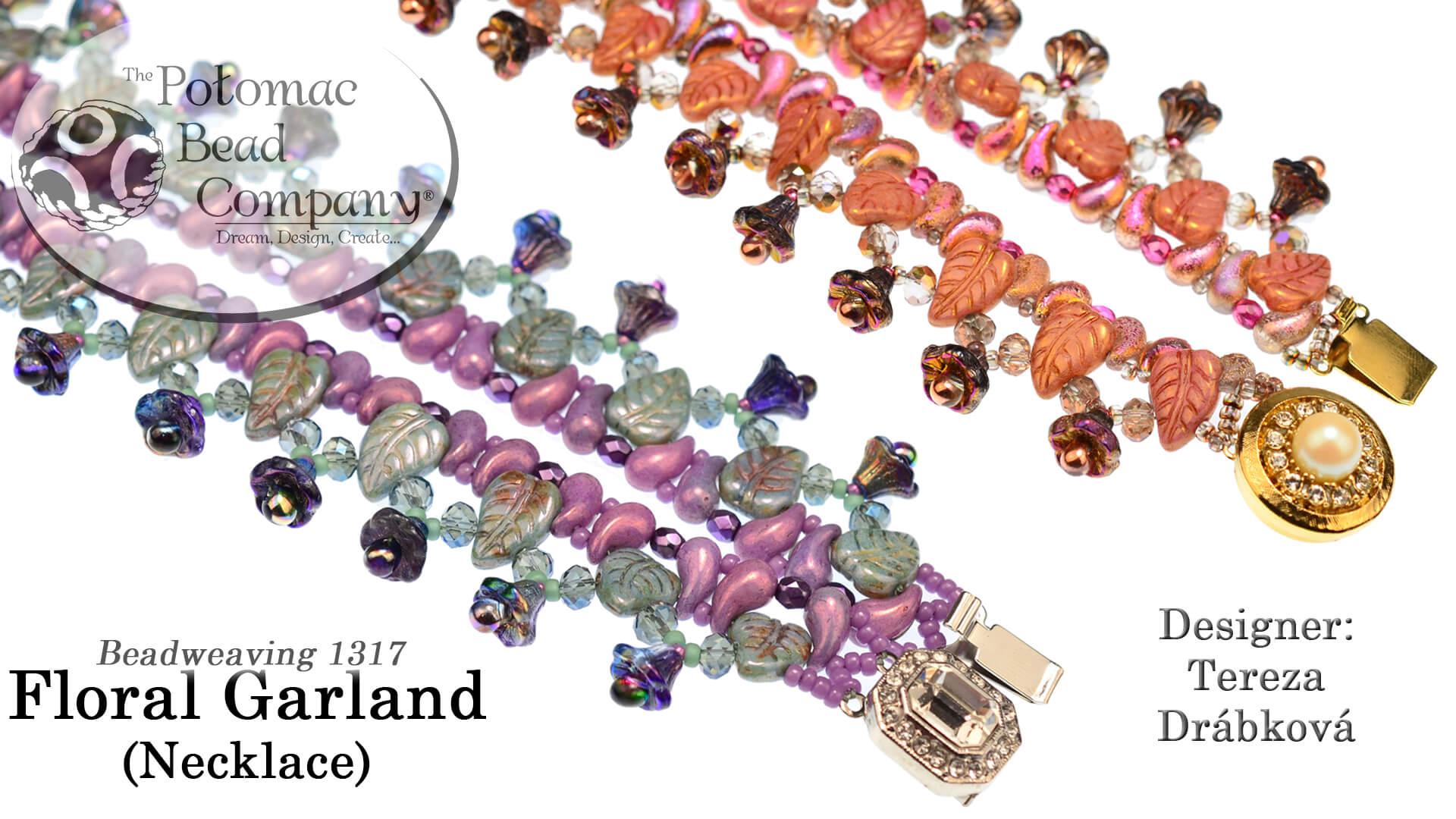 How to Bead Jewelry / Beading Tutorials & Jewel Making Videos / Bead Weaving Tutorials & Necklace Tutorial / Floral Garland Necklace Tutorial