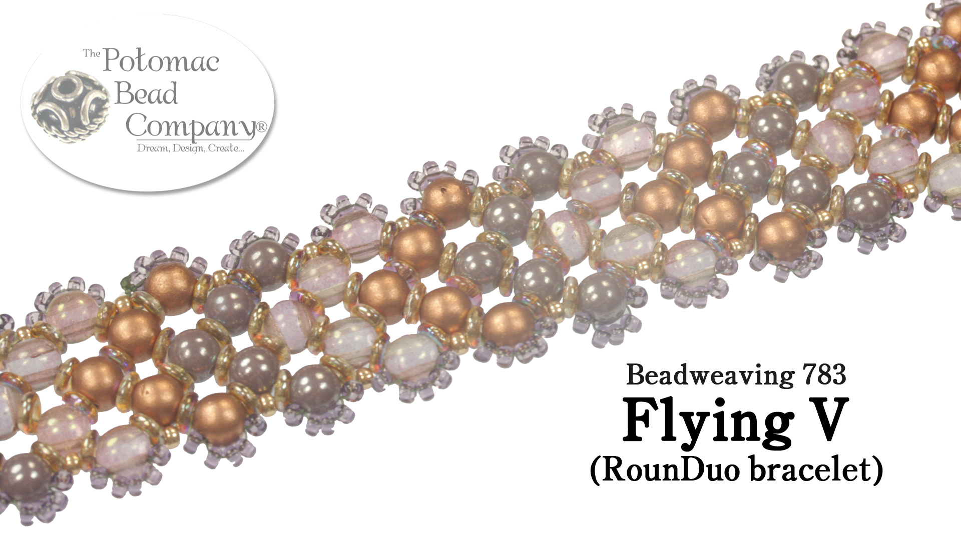 How to Bead Jewelry / Beading Tutorials & Jewel Making Videos / Bracelet Projects / Flying V RounDuo Bracelet