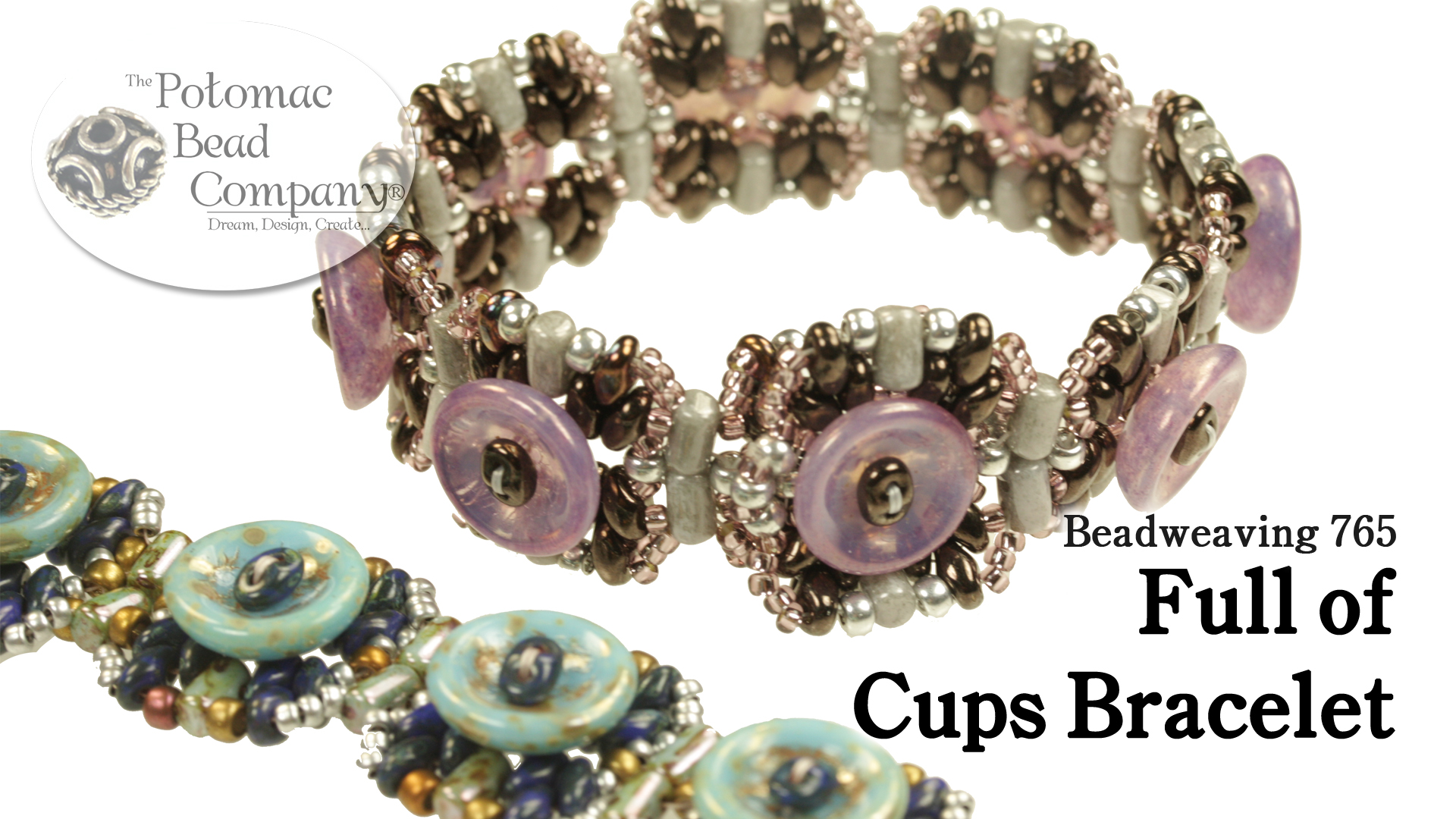 How to Bead Jewelry / Videos Sorted by Beads / SuperDuo & MiniDuo Videos / Full of Cups Bracelet Tutorial