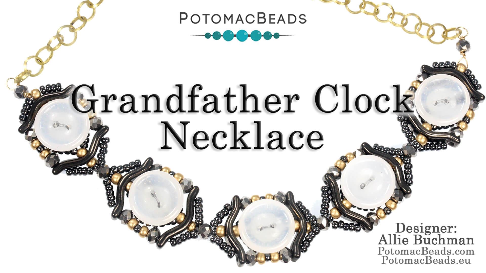 How to Bead Jewelry / Beading Tutorials & Jewel Making Videos / Bead Weaving Tutorials & Necklace Tutorial / Grandfather Clock Necklace Tutorial