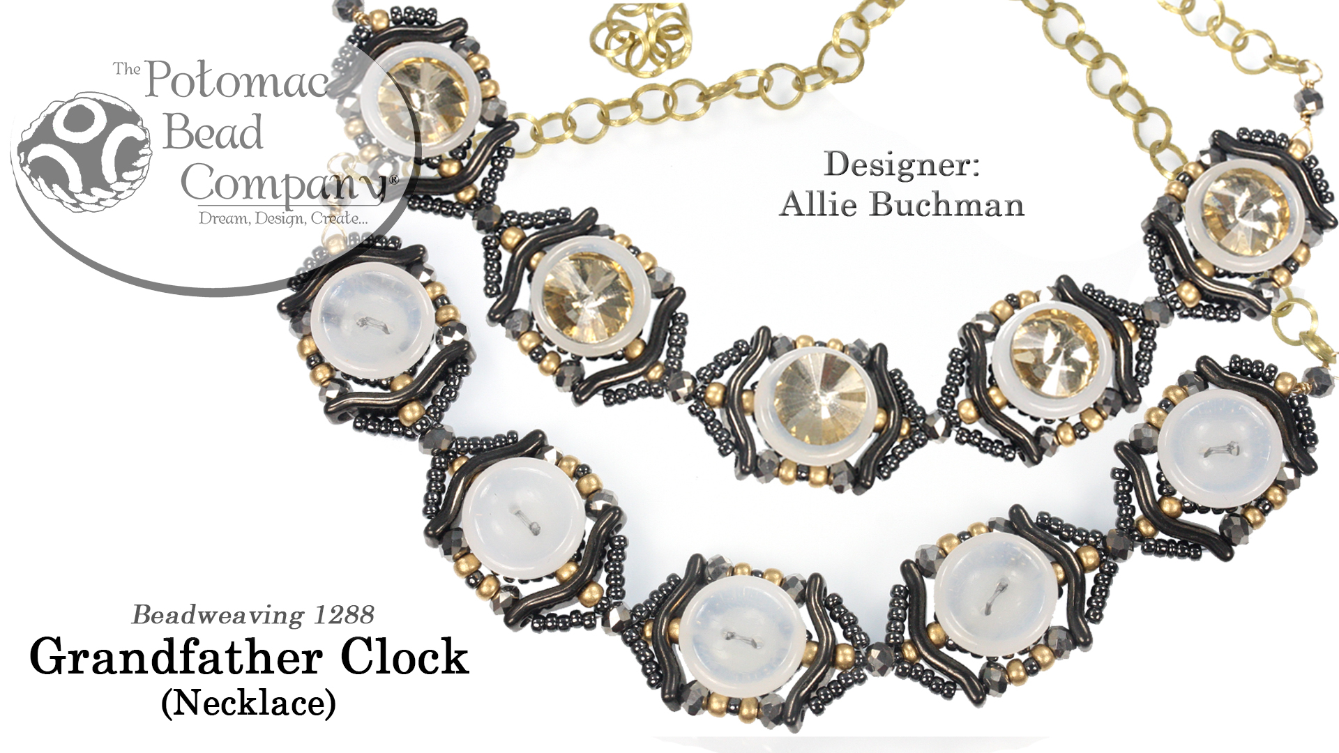 How to Bead Jewelry / Videos Sorted by Beads / Potomac Crystal Videos / Grandfather Clock Necklace Tutorial