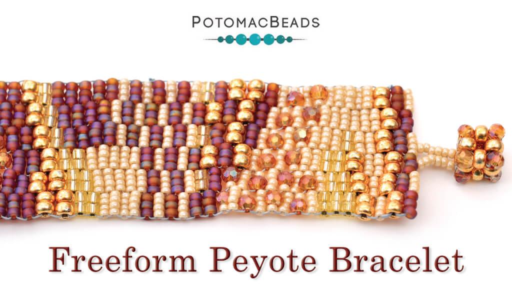 How to Bead Jewelry / Beading Tutorials & Jewel Making Videos / Bracelet Projects / Freeform Peyote Bracelet Tutorial