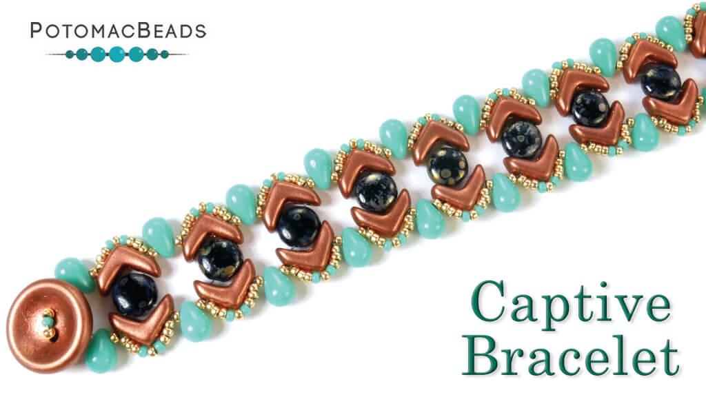 How to Bead Jewelry / Beading Tutorials & Jewel Making Videos / Bracelet Projects / Captive Bracelet Tutorial