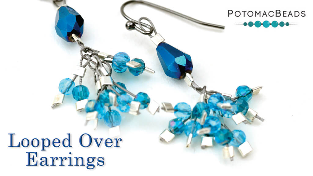 How to Bead Jewelry / Videos Sorted by Beads / Potomac Crystal Videos / Looped Over Earrings Tutorial