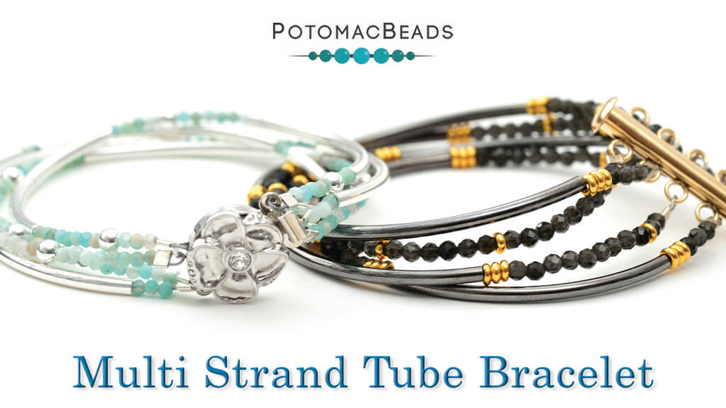 How to Bead Jewelry / Videos Sorted by Beads / Gemstone Videos / Multi Strand Tube Bracelet Tutorial