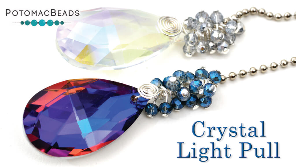 How to Bead Jewelry / Beading Tutorials & Jewel Making Videos / Wire Working Projects / Crystal Light Pull Tutorial