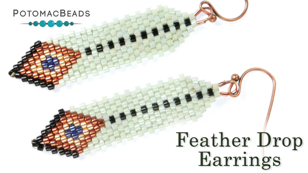 How to Bead Jewelry / Beading Tutorials & Jewel Making Videos / Earring Projects / Feather Drop Earrings Tutorial