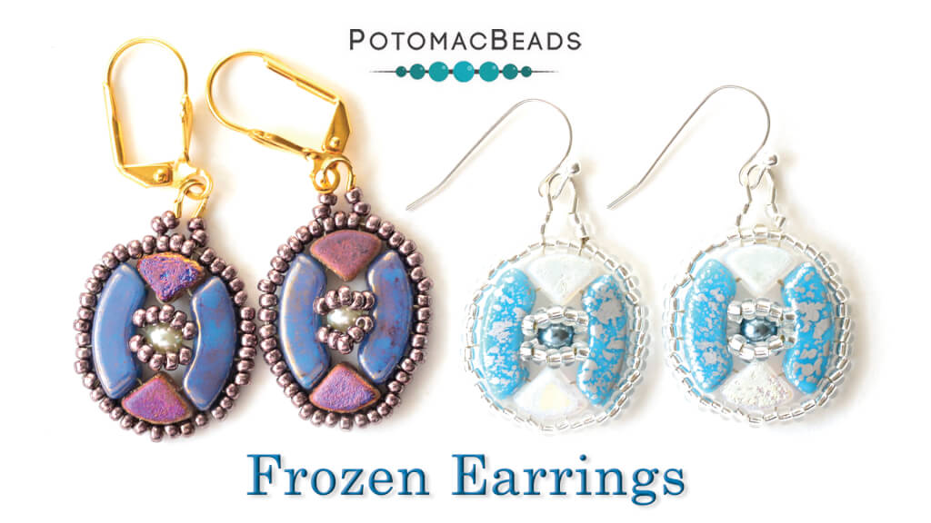 How to Bead Jewelry / Videos Sorted by Beads / QuadBow & PieDuo Bead Videos / Frozen Earrings Tutorial