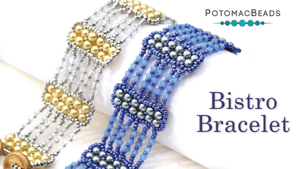 How to Bead Jewelry / Videos Sorted by Beads / Pearl Videos (Czech, Freshwater, Potomac Pearls) / Bistro Bracelet Tutorial