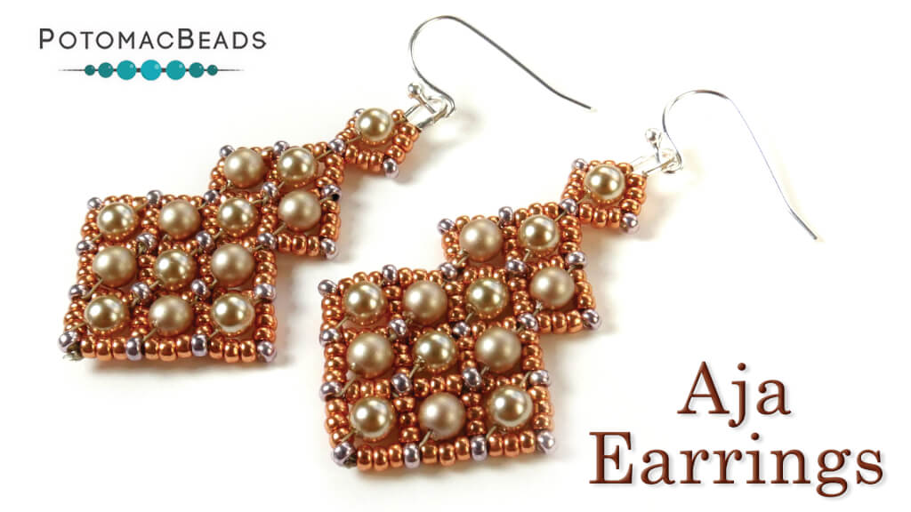 How to Bead Jewelry / Videos Sorted by Beads / Pearl Videos (Czech, Freshwater, Potomac Pearls) / Aja Earrings Tutorial