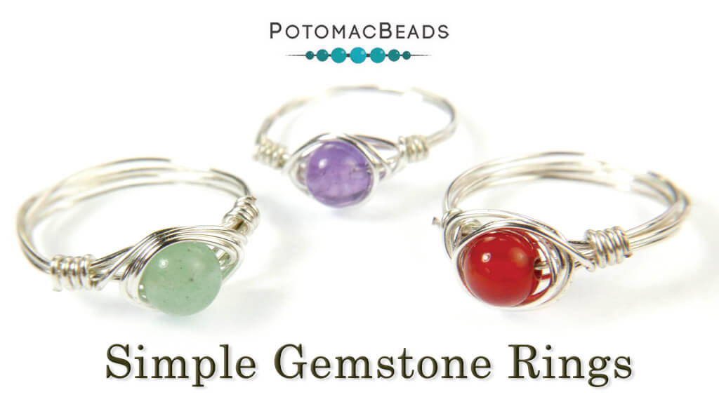 How to Bead Jewelry / Beading Tutorials & Jewel Making Videos / Wire Working Projects / Simple Gemstone Ring Tutorial