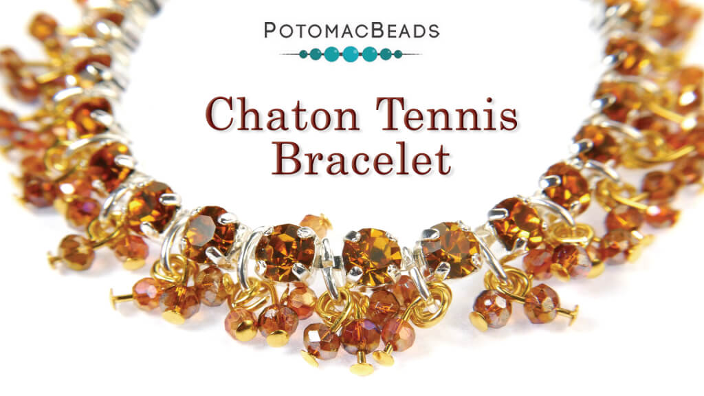 How to Bead Jewelry / Videos Sorted by Beads / Potomac Crystal Videos / Chaton Tennis Bracelet Tutorial
