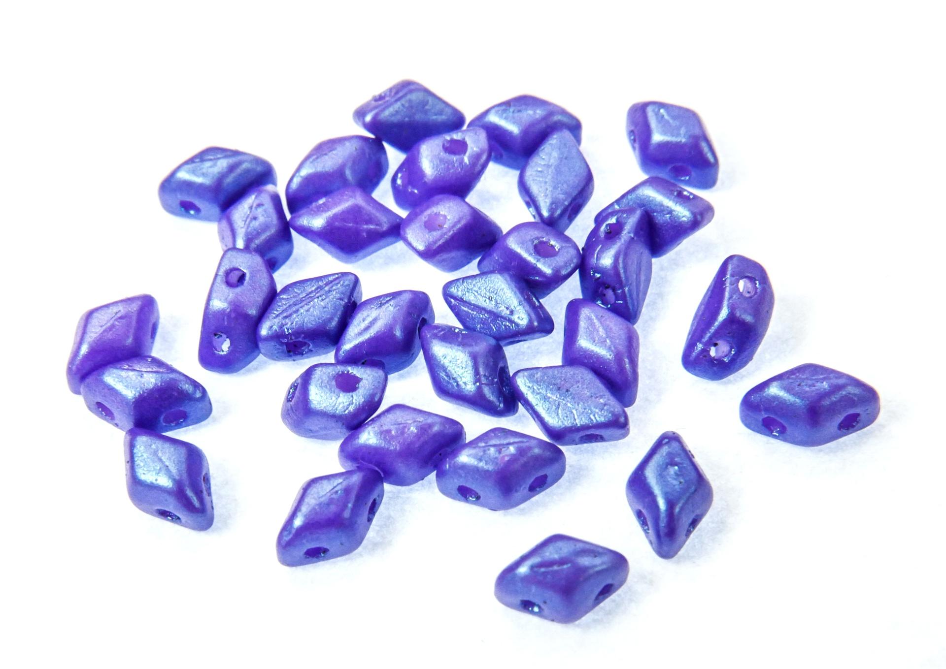 Czech Pressed Glass Beads / Czech Glass & Japanese Two Hole Beads / Mini GemDuo Beads