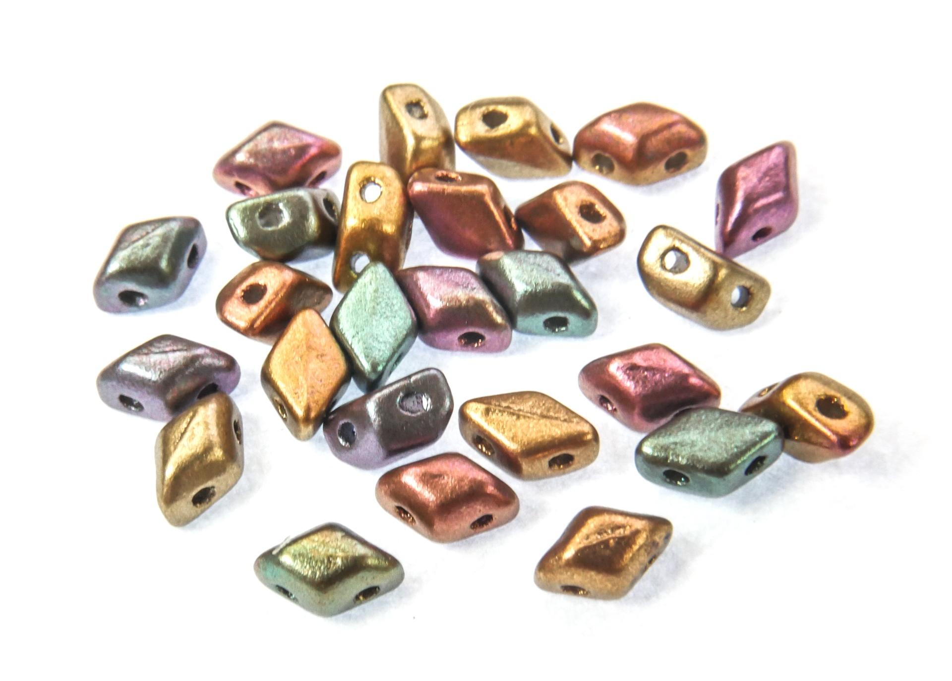 Czech Pressed Glass Beads / All Matubo Beads / Mini GemDuo Beads by Matubo