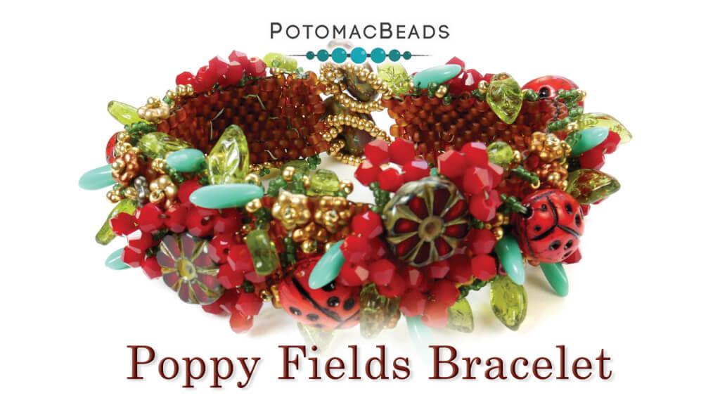 How to Bead Jewelry / Videos Sorted by Beads / Potomac Crystal Videos / Poppy Fields Bracelet Tutorial