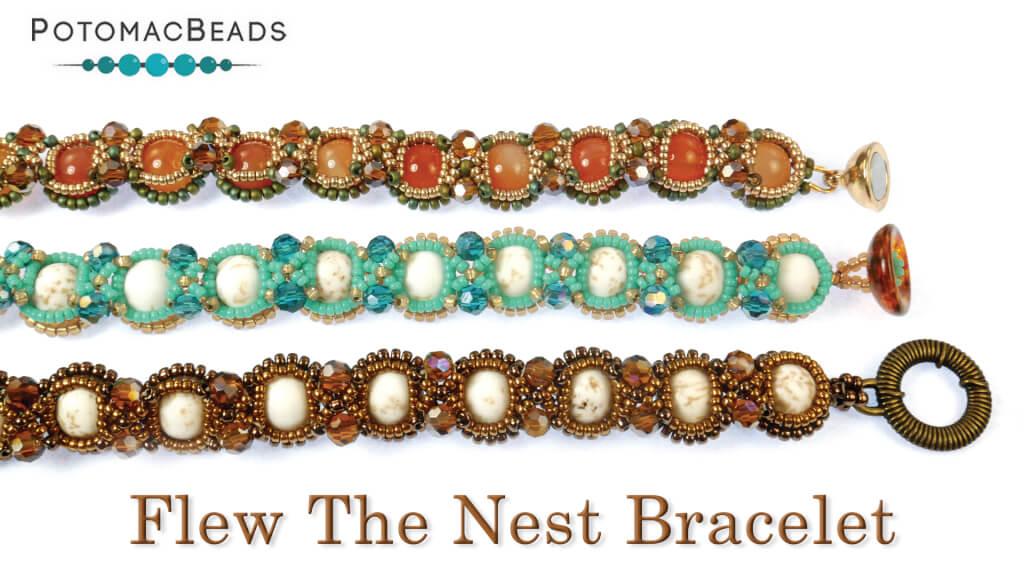 How to Bead Jewelry / Beading Tutorials & Jewel Making Videos / Bracelet Projects / Flew the Nest Bracelet Tutorial