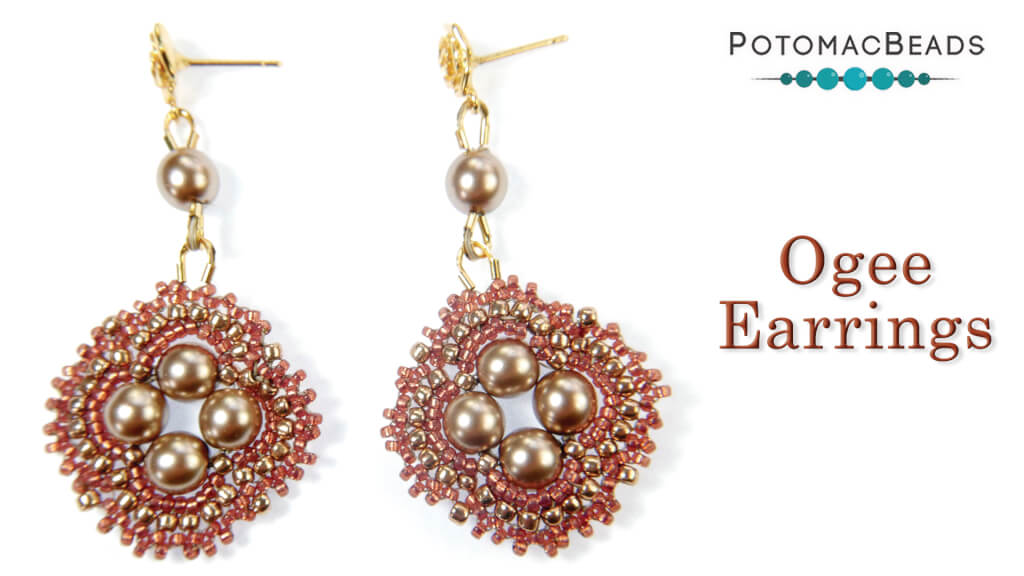 How to Bead Jewelry / Videos Sorted by Beads / Pearl Videos (Czech, Freshwater, Potomac Pearls) / Ogee Earrings Tutorial