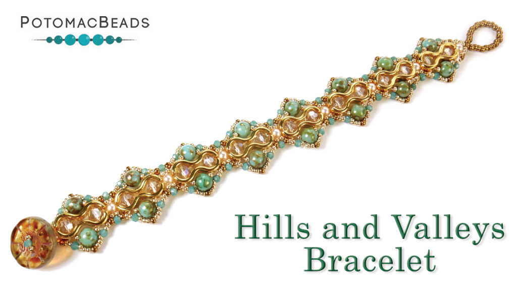 How to Bead Jewelry / Videos Sorted by Beads / Potomac Crystal Videos / Hills and Valleys Bracelet Tutorial