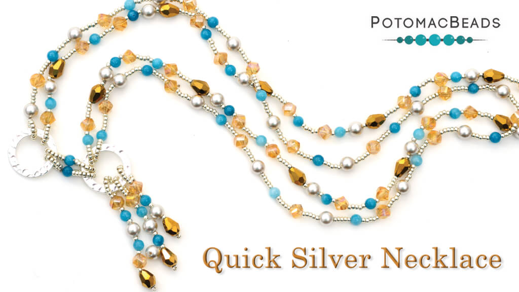 How to Bead Jewelry / Videos Sorted by Beads / Pearl Videos (Czech, Freshwater, Potomac Pearls) / Quick Silver Necklace Tutorial