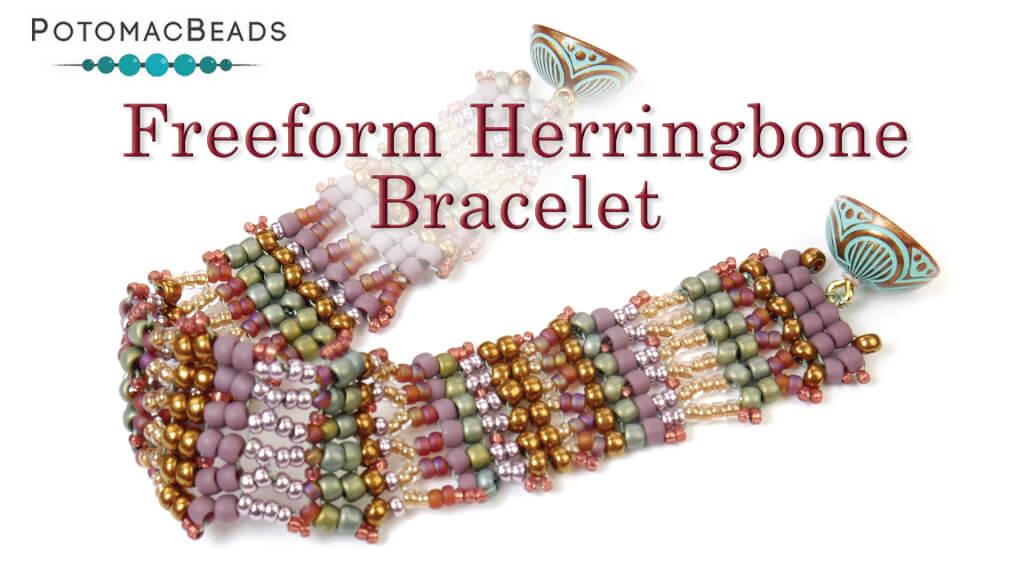 How to Bead Jewelry / Beading Tutorials & Jewel Making Videos / Bracelet Projects / Freeform Herringbone Bracelet Tutorial