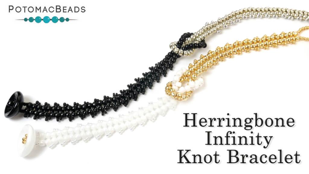 How to Bead Jewelry / Beading Tutorials & Jewel Making Videos / Bracelet Projects / Herringbone Infinity Knot Tutorial