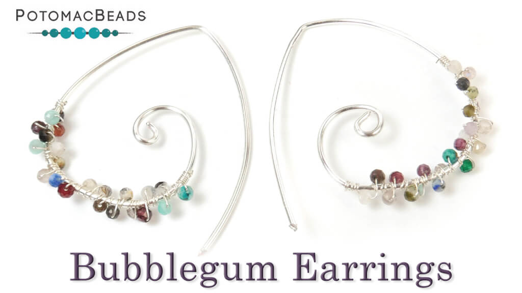 How to Bead Jewelry / Beading Tutorials & Jewel Making Videos / Wire Working Projects / Bubblegum Earrings Tutorial