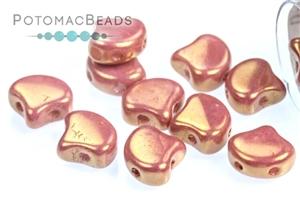 Czech Pressed Glass Beads / Czech Glass & Japanese Two Hole Beads / Ginko Leaf Beads