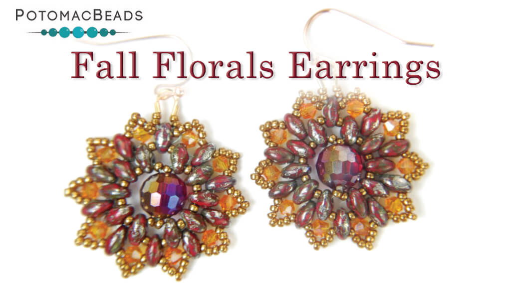 How to Bead Jewelry / Videos Sorted by Beads / Potomac Crystal Videos / Fall Florals Earrings Tutorial