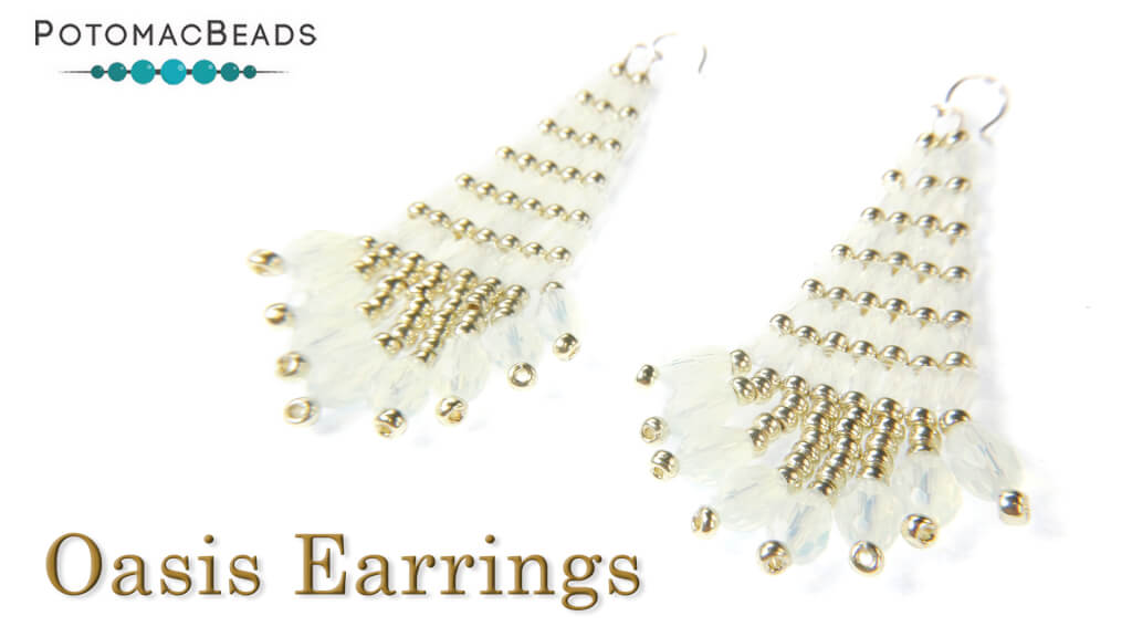 How to Bead Jewelry / Beading Tutorials & Jewel Making Videos / Earring Projects / Oasis Earrings Tutorial
