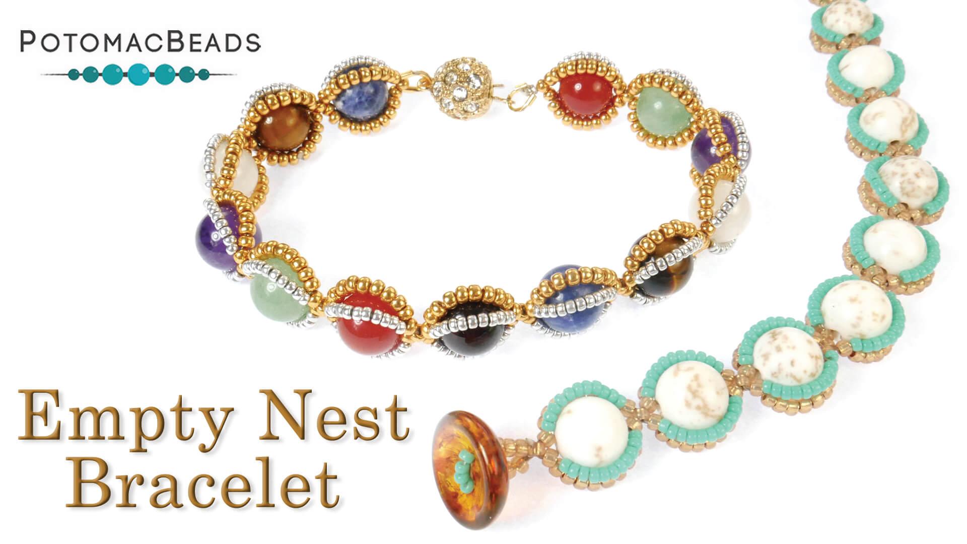 How to Bead Jewelry / Videos Sorted by Beads / Gemstone Videos / Empty Nest Bracelet Tutorial