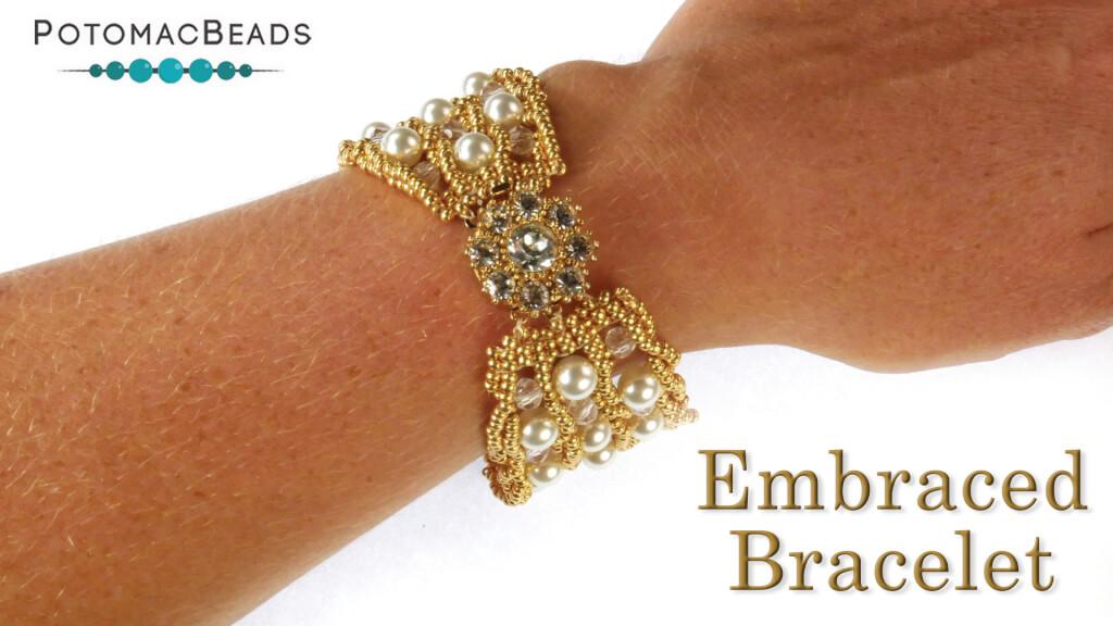 How to Bead Jewelry / Beading Tutorials & Jewel Making Videos / Bracelet Projects / Embraced Bracelet Tutorial