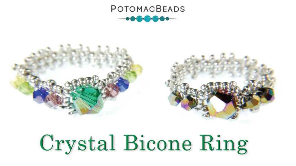 How to Bead Jewelry / Beading Tutorials & Jewel Making Videos / Ring Projects / Crystal Bicone Ring Tutorial