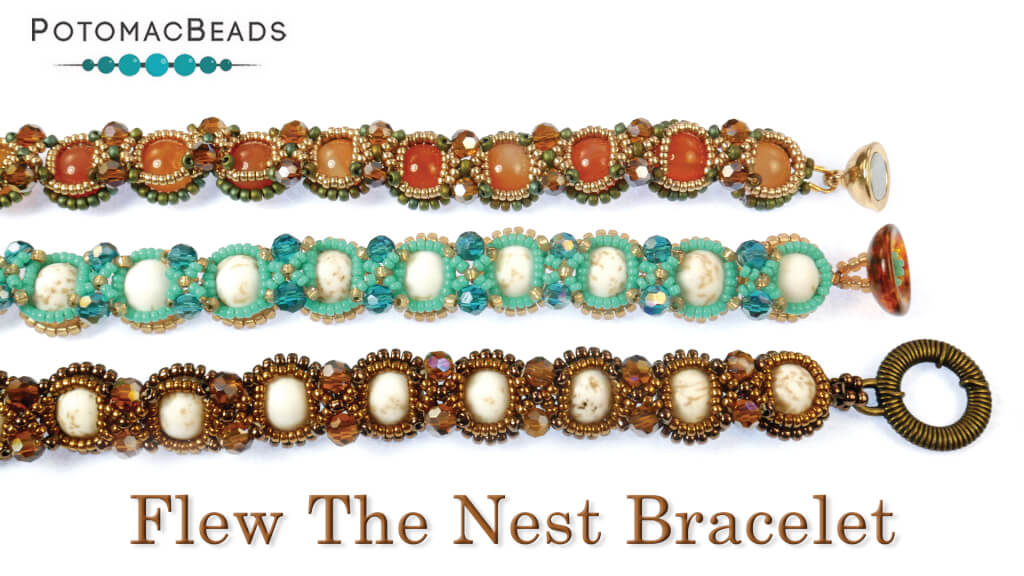 How to Bead Jewelry / Videos Sorted by Beads / Potomac Crystal Videos / Flew the Nest Bracelet Tutorial