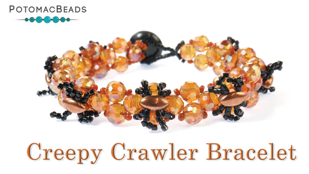 How to Bead Jewelry / Videos Sorted by Beads / Potomac Crystal Videos / Creepy Crawler Bracelet Tutorial