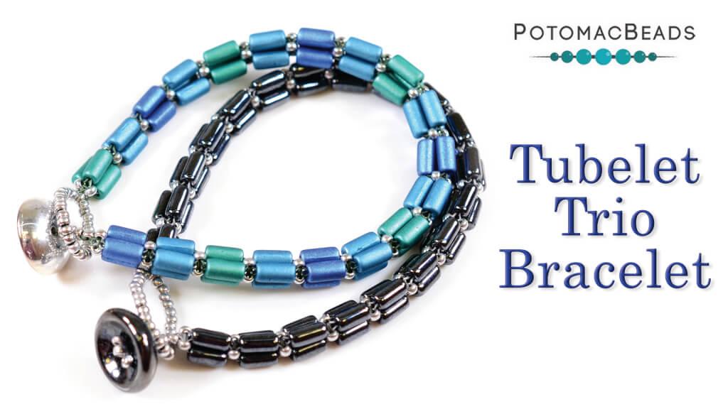 How to Bead Jewelry / Beading Tutorials & Jewel Making Videos / Bracelet Projects / Tubelet Trio Bracelet Tutorial