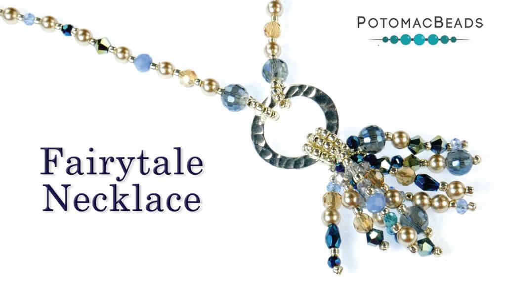 How to Bead Jewelry / Beading Tutorials & Jewel Making Videos / Bead Weaving Tutorials & Necklace Tutorial / Fairytale Cluster Necklace Tutorial