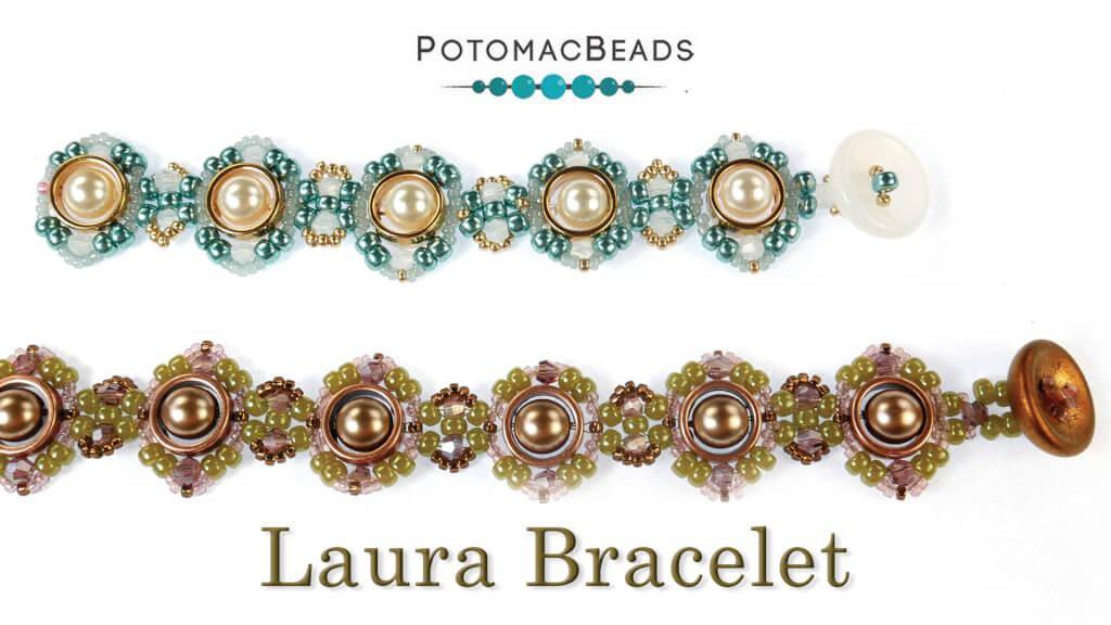 How to Bead Jewelry / Beading Tutorials & Jewel Making Videos / Bracelet Projects / Laura Bracelet Tutorial