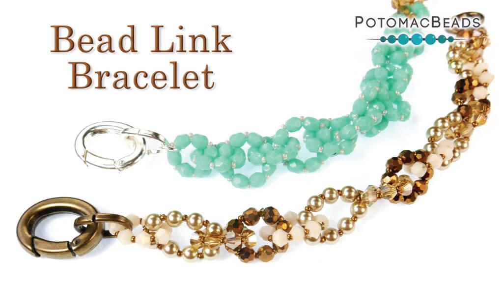 How to Bead Jewelry / Beading Tutorials & Jewel Making Videos / Bracelet Projects / Bead Link Bracelet Tutorial