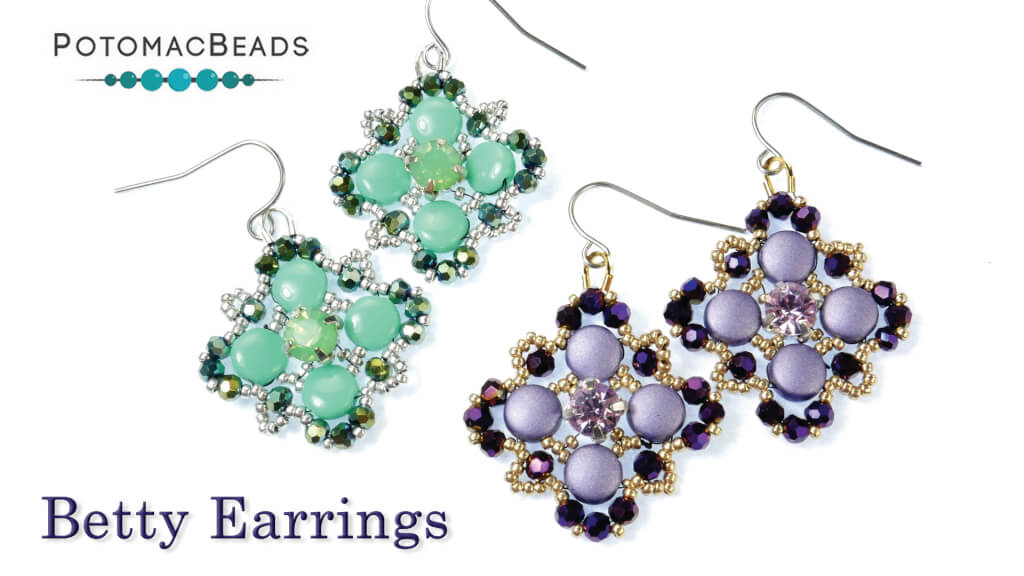 How to Bead Jewelry / Videos Sorted by Beads / Potomac Crystal Videos / Betty Earrings Tutorial