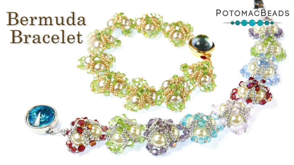 How to Bead Jewelry / Videos Sorted by Beads / Cabochon Videos / Bermuda Bracelet Tutorial