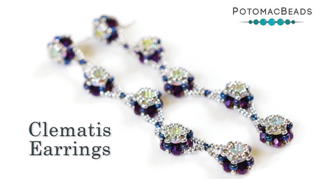 How to Bead Jewelry / Beading Tutorials & Jewel Making Videos / Earring Projects / Clematis Earrings Tutorial