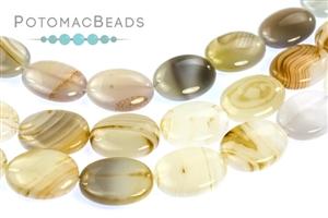 Jewelry Making Supplies & Beads / Gemstone Beads & Semi Precious Stone Beads / Botswana Agate
