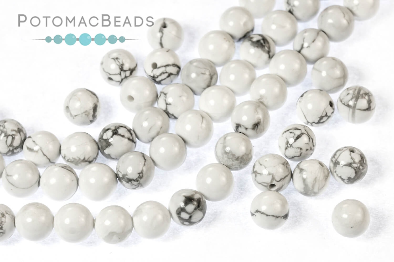 Jewelry Making Supplies & Beads / Gemstone Beads & Semi Precious Stone Beads / Howlite
