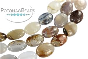 Jewelry Making Supplies & Beads / Gemstone Beads & Semi Precious Stone Beads / Montana Agate