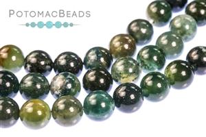 Jewelry Making Supplies & Beads / Gemstone Beads & Semi Precious Stone Beads / Moss Agate